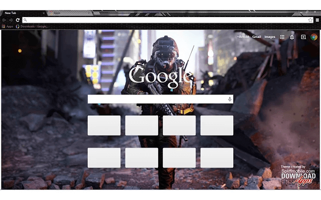 Call of Duty Advanced Warfare Google Chrome Theme