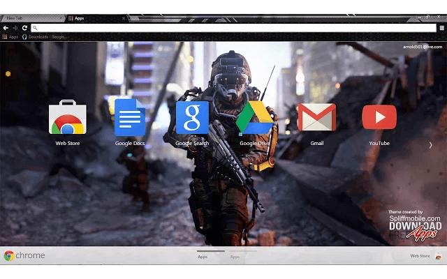 Call of Duty Advanced Warfare Google Theme