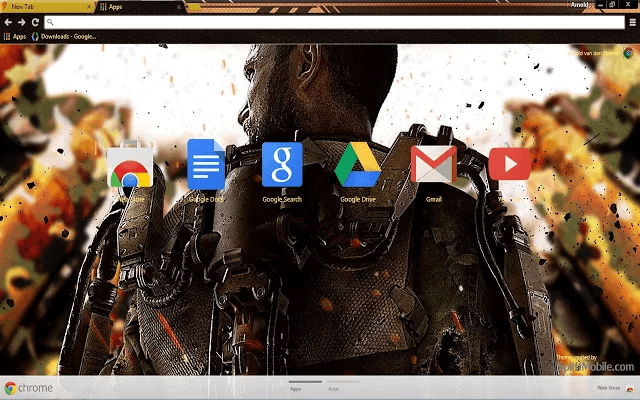 Call of Duty AW Google Chrome Theme