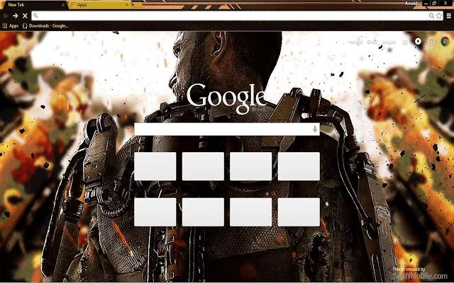 Call of Duty AW Chrome Theme