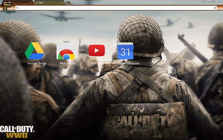 Call Of Duty WWII Chrome Theme
