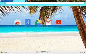 Caribbean Blue Chrome Theme