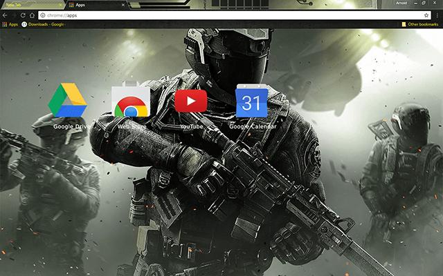 Call Of Duty: Infinite Warfare Chrome Theme