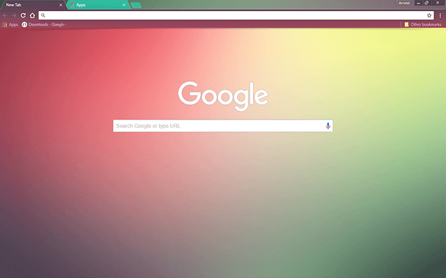 color fusion google chrome theme for download