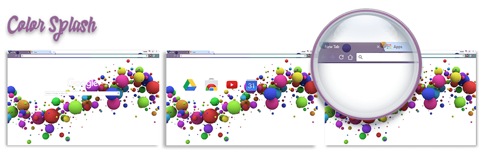 Color Splash Google Chrome Theme