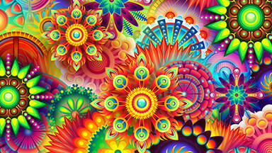 Colorful Divinity Google Background