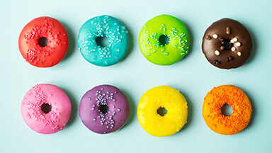 Colorful Donuts Chromebook Wallpaper