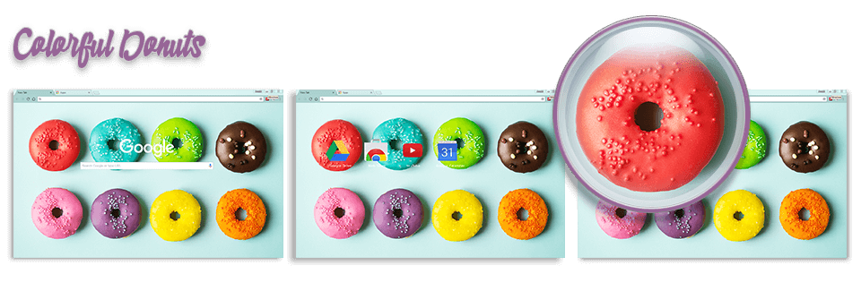 Colorful Donuts Google Chrome Theme