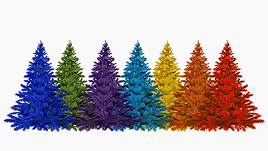 Colorful Trees Google Background