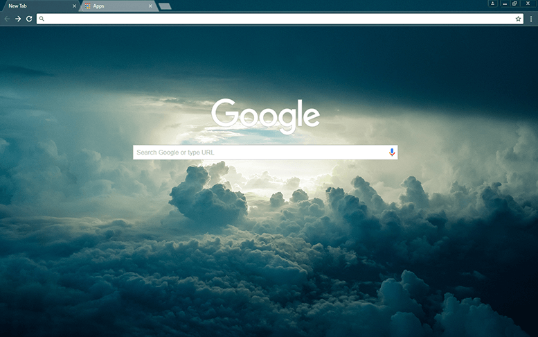 Blue Skies Google Chrome Theme
