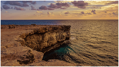 Cyprus Sea Cliffs ChromeBook Wallpaper