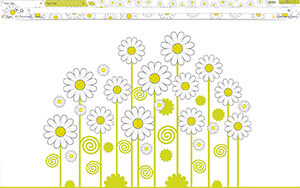 Daisies Chrome Theme