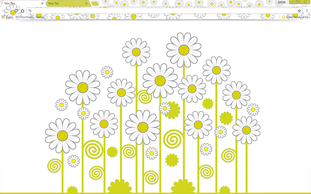 Daisies Google Chrome Theme