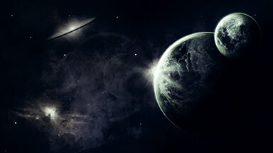Dark Space Google Background