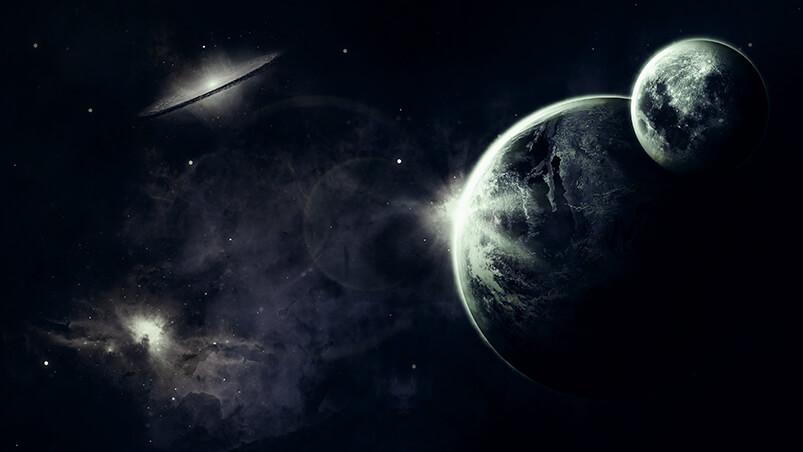 Dark Space Google Background ...