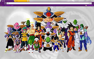 Dragon Ball Z Chrome Theme