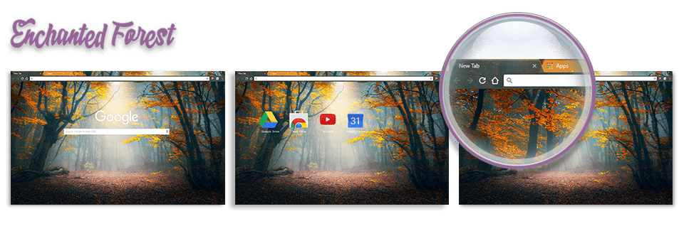 Enchanted Forest Google Chrome Theme