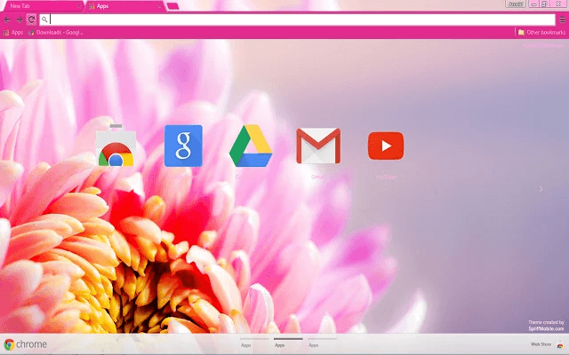 Custom Free Floral Pink Chrome Theme For Google