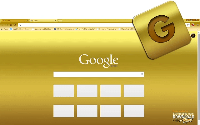 free gold google chrome theme for download