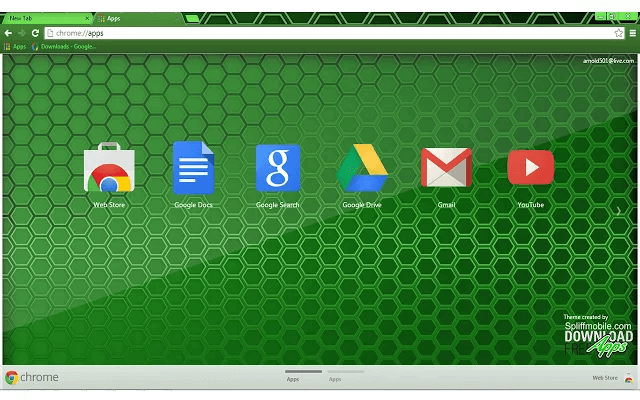free green colm ia google chrome theme for download
