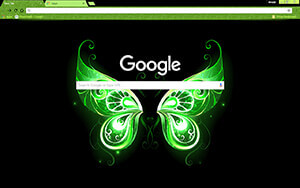 Green Fairy Wings Chrome Theme