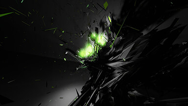Green Shatter Google Background