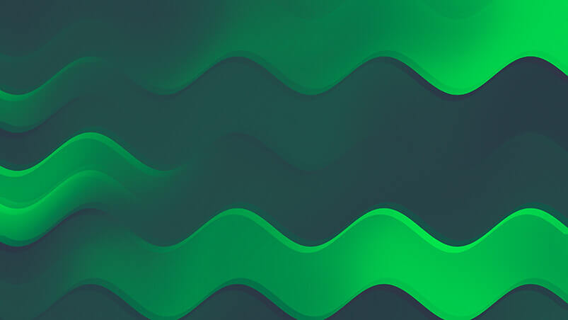 Green Waves Google Background ...