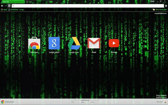Hacker Google Theme