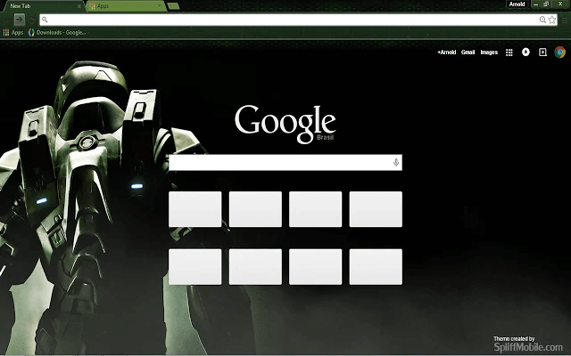 free halo hd google chrome theme for download
