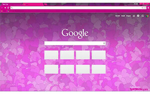 Hearts Chrome Theme