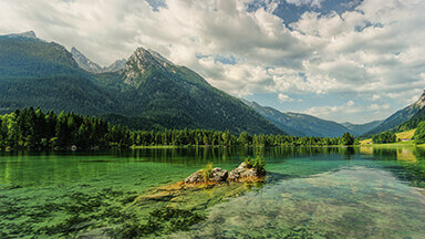 Hintersee Mountains Chromebook Wallpaper