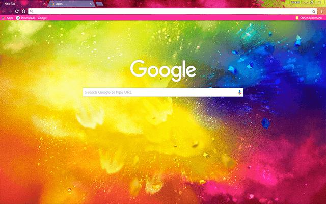 Custom Holi Splash Google Chrome Theme