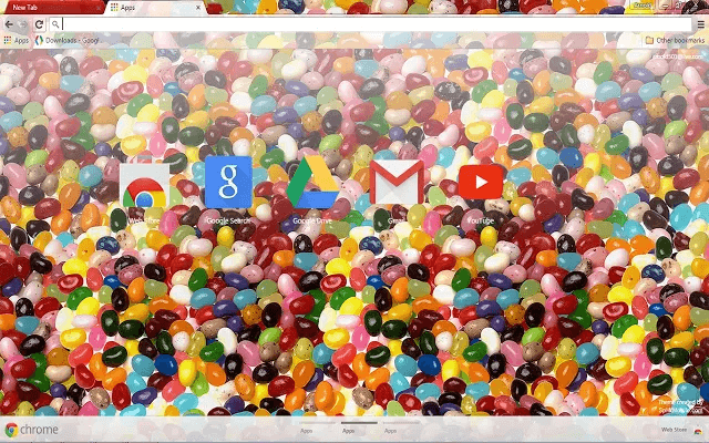 Jelly Beans - Google Homepage