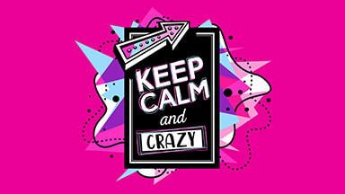 Keep Calm And Crazy Google Background