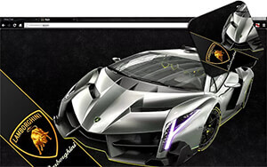 Lamborghini Veneno Chrome Theme