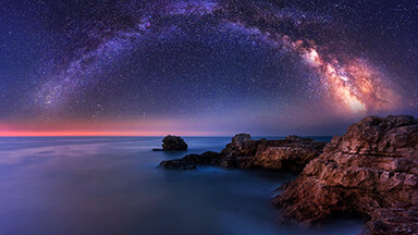 Milky Way Over The Sea Google Background