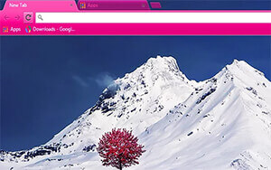 Mountain Flowers Chrome Theme