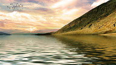 Mountain Shore Google Background