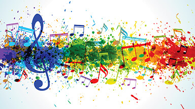 Musical Colors Google Background