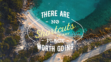 No Shortcuts Motivational Google Background