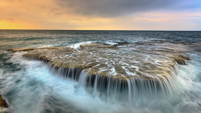 Ocean Waterfall Google Background ...