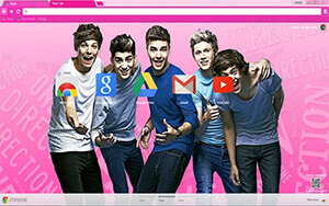 One Direction Chrome Theme