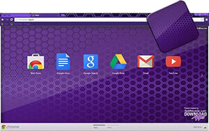 Purple Colmeia Chrome Theme
