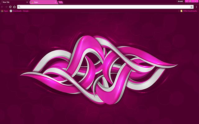 custom free purple graffiti chrome theme for google