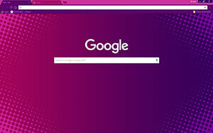 Purple Halftone Chrome Theme