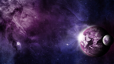 Purple Planet Google Background