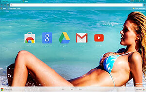 Sexy Beach Girl Chrome Theme
