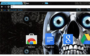 Skull Eyes Chrome Theme
