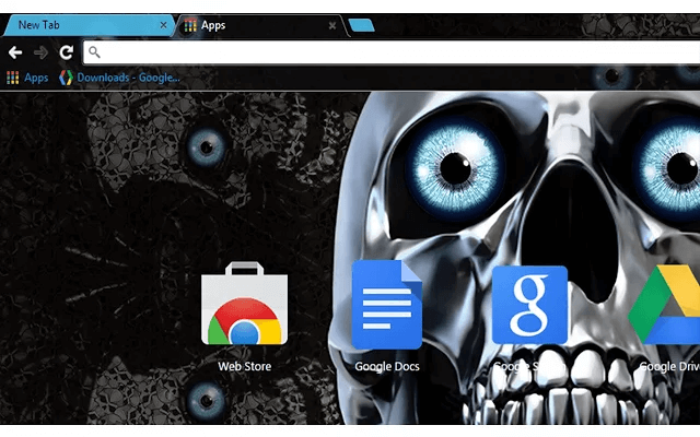 Skull Eyes Google Chrome Theme