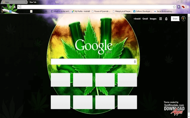 Free Smoking Bongs HD Google Chrome Theme